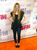 LOS ANGELES - MAY 11:  Avril Lavigne arrives at the 2013 Wango Tango concert produced by KIIS-FM at