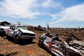 MOORE, OKLAHOMA (USA) - MAY 20th 2013. EF5 tornado strikes the city of Moore, Oklahoma. The whole to