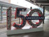 LONDON- MAY 23. Londons famous underground train network, the oldest in the world, celebrates its 15