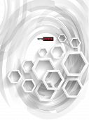 Vector abstract background Hexagon. Web and Design