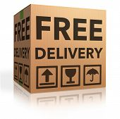 free delivery package from shipping online internet webshop cardboard box as webshop shopping icon p