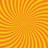 Orange hypnotic background. Vector illustration