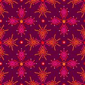 Seamless abstract aztec illustration background pattern in vector