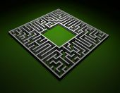 Abstract maze - find a solution