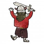picture of raider  - cartoon medieval raider - JPG