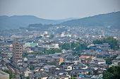 Topview de Isahaya ciudad en Isahaya, Japón