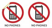 No Phones Sign