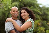 A happy mixed race couple