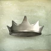 Silver crown, old style vector