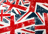 Union jack flag montage background