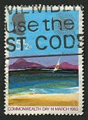 UK - CIRCA 1983: A stamp printed in UK shows image of the Tropical Island, circa 1983.
