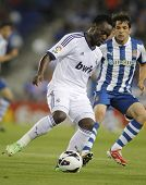 BARCELONA - MAY, 11: Michael Essien of Real Madrid during the Spanish League match between Espanyol