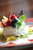 foto of dessert plate  - berry meringue  - JPG