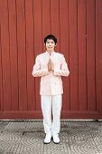 Asian Thai Man/groom In Thai Wedding Suit
