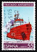 Postage Stamp Spain 1991 Research Ship, Antarctic Treaty