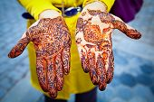stock photo of henna tattoo  - Woman - JPG