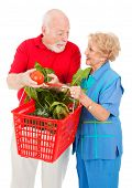 Seniors Shopping Together