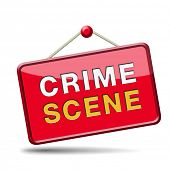 Постер, плакат: crime scene investigation murder forensic science invest criminal case and searching and collecting