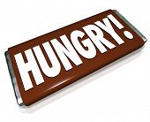Hungry Word Chocolate Candy Bar Wrapper Hunger