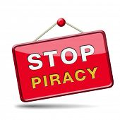 stop piracy and illegal copying copyright and intellectual property protection protect copy of trade