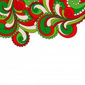 Abstract ornament frame
