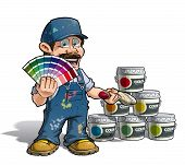 Handyman - Colour Picking Painter Blue Uniform