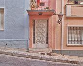 house door in Athens, Greece