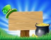 picture of pot gold  - A St Patrick - JPG