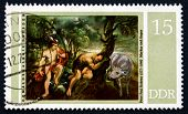 Postage Stamp Gdr 1977 Mercury And Argus, By Rubens