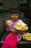 Girl Holding Prawn Crackers