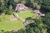 foto of atonement  - aerial view of Altun Ha maya ruins in the tropical jungle of Belize - JPG