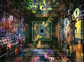 stock photo of cpu  - Number Tunnel series - JPG