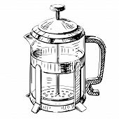 French press tea pot