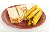 Frozen Tamales And Tacos On Plate
