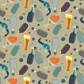 Seamless Alco Party Time Vector Pattern