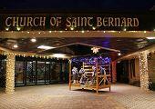 Christmas Nativity Scene at the Church of Saint Bernard in Brooklyn