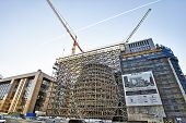 Brussels, Belgium - December 10: The Europa Building Construction On December 10, 2013 In Brussels.