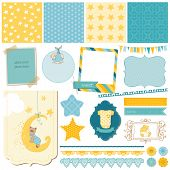 Scrapbook Baby Bear Set - for design - in vector