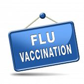 stock photo of flu shot  - flu vaccination needle immunization shot - JPG