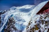 stock photo of denali national park  - Blue Ice Glacier and Snow - JPG