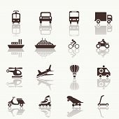 Transportation icons design elements.