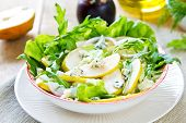 Pear With Blue Cheese And Rocket Salad