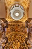Basilica Dome Painting Altar Piece Church Of El Salvador Seville Andalusia Spain