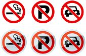 No Smoking And No Parking Signs
