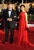 LOS ANGELES - JAN 27:  Alec Baldwin & Hilaria Thomas arrives to the SAG Awards 2013  on January 27,
