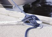 Blue Rope Tied On A Bitt