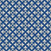 Seamless royal texture with fleur-de-lis