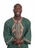 African Man With Traditional Clothes And Crossed Arms