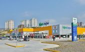 KUSADASI, TURKEY - APRIL 8, 2014: New Hypermarket Kipa Extra in Kusadasi. Founded in 1992, Kipa is I