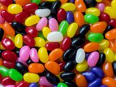 pic of jelly beans  - Jelly beans candy background with many colors - JPG